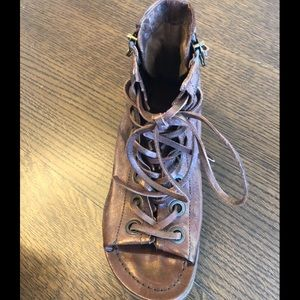 NEW A.S.98 37 6.5-7 GLADIATOR SANDAL SHOE LACE UP
